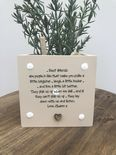 Personalised Shabby Chic Plant Pot Special Best Friend gift ANY NAMES Friends